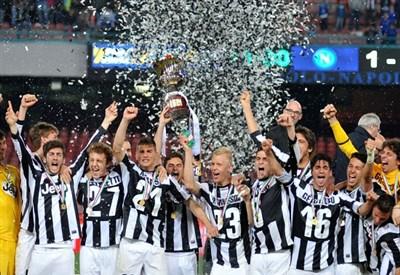 La Juventus Primavera festeggia la vittoria in Coppa Italia (Infophoto)