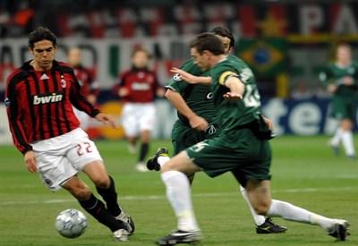 Kakà contro il Celtic negli ottavi di finale del 2007 (Infophoto)