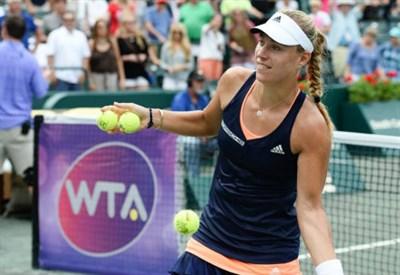 Angelique Kerber, 27 anni, tredicesima finale WTA (dall'account ufficiale facebook.com/FamilyCircleCupTennis)