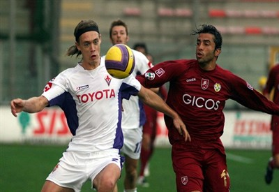 Per Kroldrup, qui con la maglia della Fiorentina, è il nuovo difensore del Pescara (Infophoto)