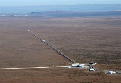 Veduta aerea del LIGO Hanford Observatory (stato di Washington)