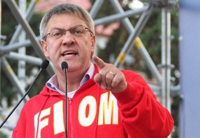 Maurizio Landini, segretario della Fiom (Infophoto)