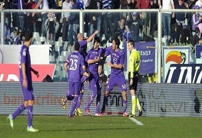 Marcelo Larrondo, due gol con la maglia della Fiorentina (Infophoto)