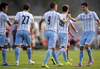 La Lazio in amichevole in questa estate 2014