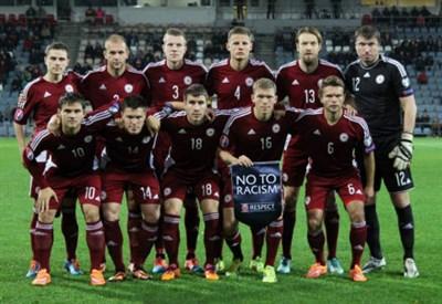 Una formazione della Lettonia