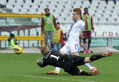 Marko Livaja, secondo gol in campionato contro il Bologna (Infophoto)