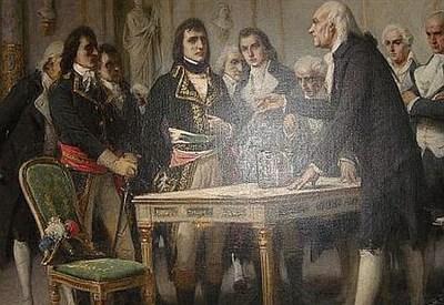 Alessandro Volta presenta la pila a Napoleone Bonaparte
