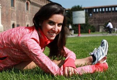 Valentina Marchei, in gara con Ondrej Hotarek