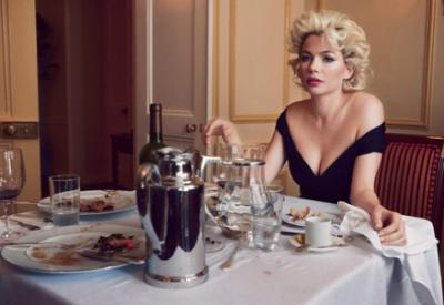 Michelle Williams nei panni di Marilyn Monroe