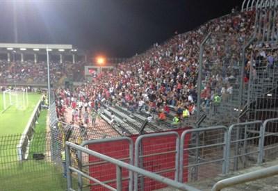 Lo stadio Martelli (dall'account ufficiale facebook.com/AcMantova1911)