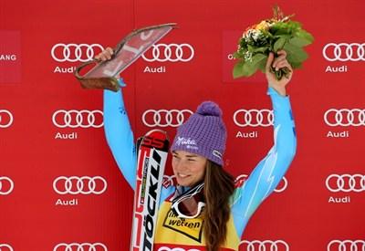 Tina Maze può vincere tutte le coppette di specialità (Infophoto)
