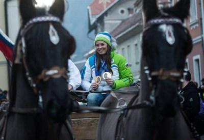 Tina Maze ha vinto due medaglie d'oro alle Olimpiadi di Sochi