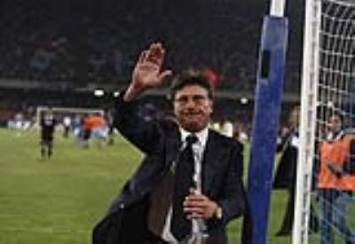 Walter Mazzarri, allenatore Napoli (Foto Infophoto)