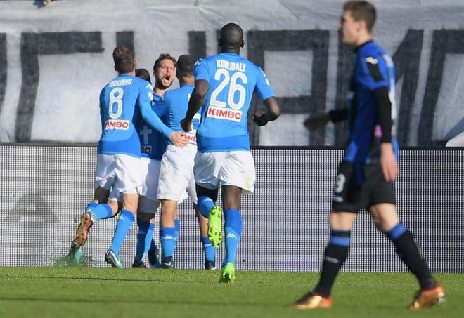 Il Napoli è primo in classifica in Serie A (Foto LaPresse)