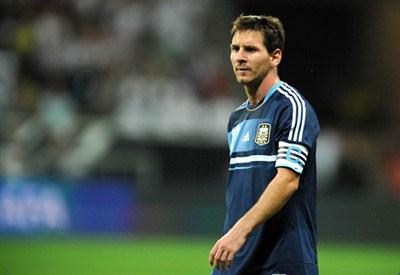 Leo Messi con la maglia dell'Argentina (Infophoto)