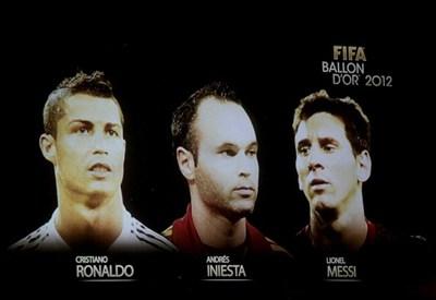 Messi ha vinto il Pallone d'Oro 2012 (INFOPHOTO)