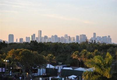 Una veduta di Miami: il torneo entra nel vivo