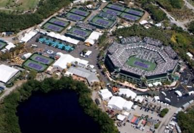 Una veduta aerea del Tennis Center di Key Biscaine