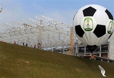 Lavori in corso in Brasile: a giugno iniziano i Mondiali (Infophoto)