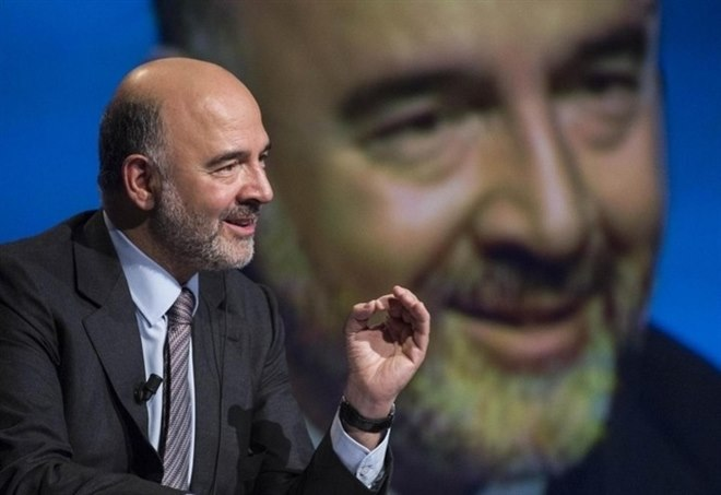 Il Commissario Ue Pierre Moscovici (Lapresse)
