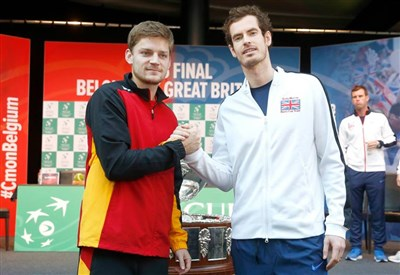 David Goffin, 24 anni, e Andy Murray, 28 (dall'account ufficiale facebook.com/DavisCupTennis)