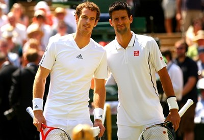 Andy Murray e Novak Djokovic (Infophoto)