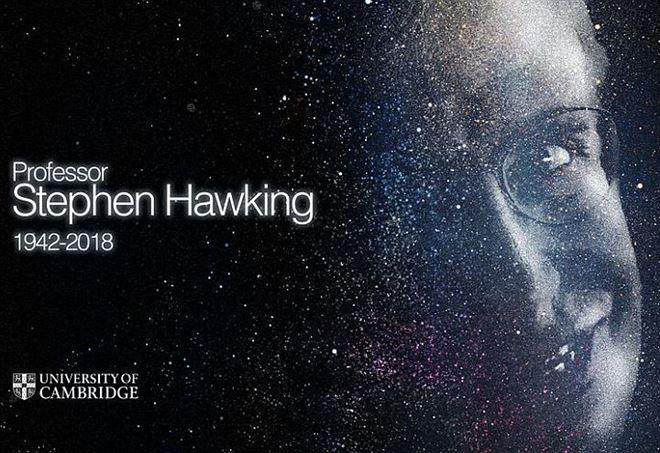 L'immagine dedicata a Stephen Hawking dall'Università di Cambridge