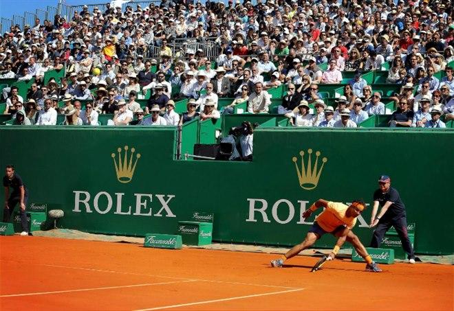 Rafa Nadal, osservato speciale oggi all'Atp Montecarlo 2017 (LaPresse)