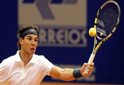 Rafa Nadal nel corso del torneo di San Paolo (Infophoto)