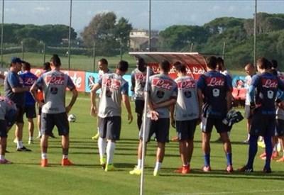 Il Napoli si allena in vista della grande partita