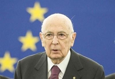 Giorgio Napolitano al Parlamento europeo (Infophoto)