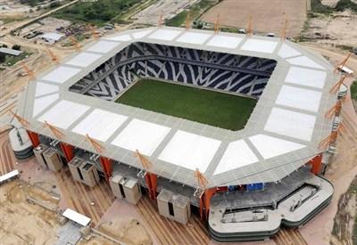 Lo stadio di Nelspruit ospita Burkina Faso-Etiopia (Infophoto)