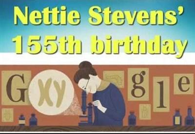 Nettie Stevens nel doodle di Google