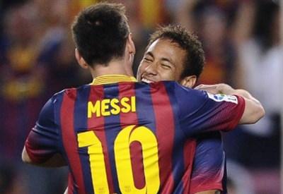 Neymar e Messi (Infophoto)