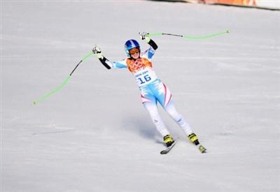 Nicole Hosp, 31 anni, qui nel super-G di Sochi 2014 (Infophoto)
