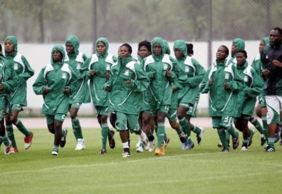 La nazionale di calcio femminile della Nigeria (Infophoto)