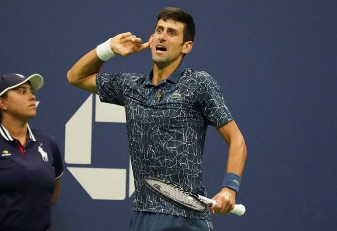 Diretta Atp Shanghai 2018: Novak Djokovic (Foto LaPresse)
