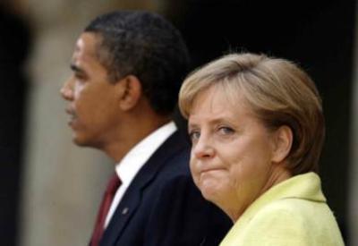 Barack Obama e Angela Merkel (Infophoto)