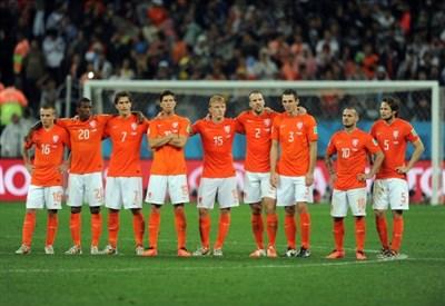 La delusione dell'Olanda per la sconfitta in semifinale (Infophoto)