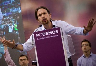 Pablo Iglesias, leader di Podemos (Infophoto)