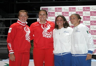 Pavlyuchenkova-Petrova, Errani-Vinci: semifinali di Fed Cup 2009 (Infophoto)