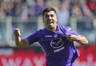 David Pizarro, centrocampista Fiorentina (Foto Infophoto)