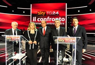 I cinque candidati alle Primarie del Centro-sinistra (Infophoto)