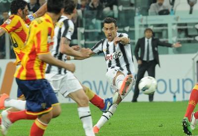 Fabio Quagliarella, attaccante Juventus (Foto Infophoto)