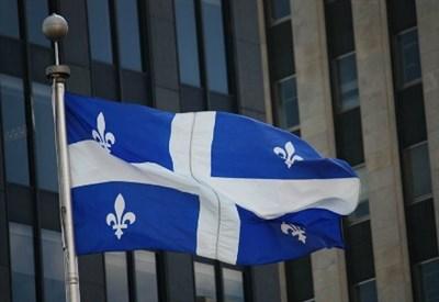 La bandiera del Quebec (Infophoto)