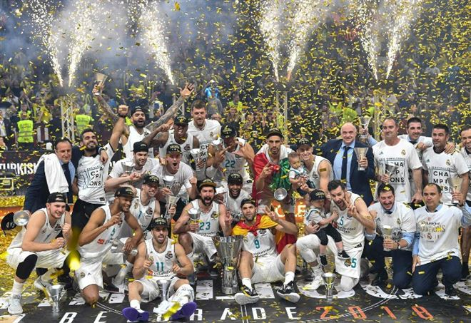 Il Real Madrid ha vinto l'Eurolega 2017-2018 (Foto LaPresse)