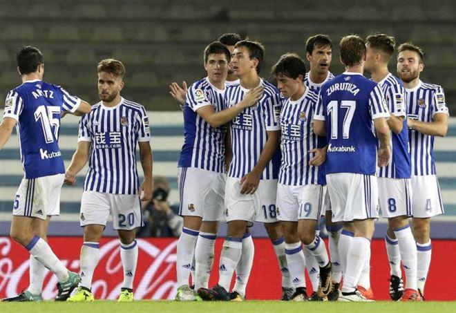 Real Sociedad, i giocatori baschi (LaPresse)