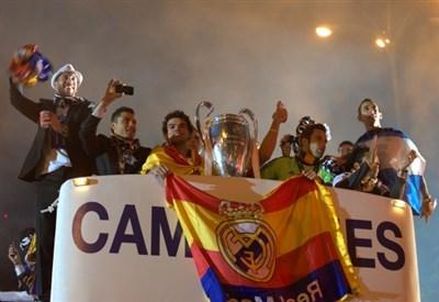 Il Real Madrid festeggia la vittoria della Champions League 2014 (Infophoto)