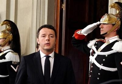 Matteo Renzi ha appena ricevuto l'incarico dal capo dello Stato (Infophoto)