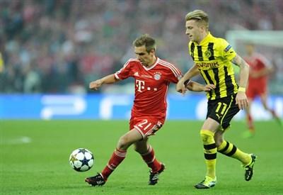 Marco Reus nella finale dell'anno scorso (Infophoto)